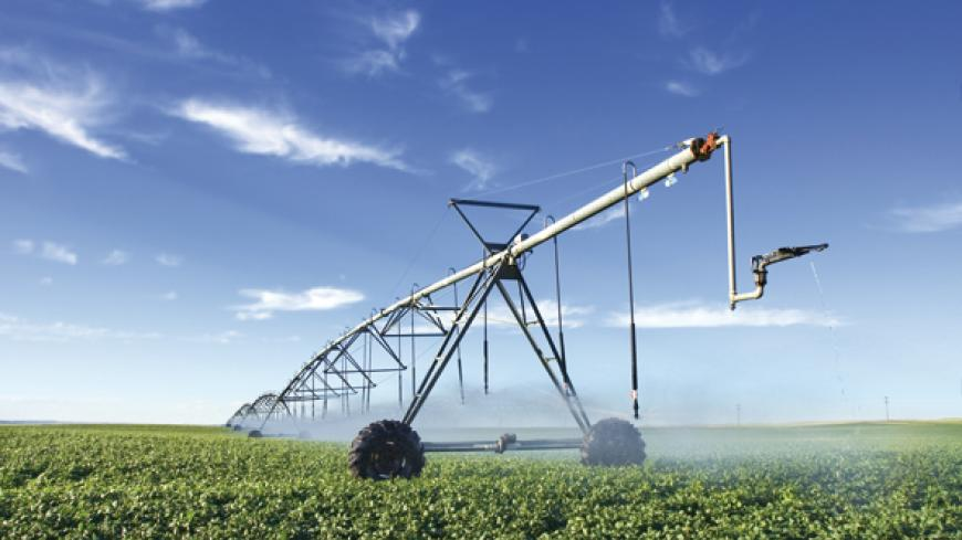 Combining drip irrigation with sprinkler nozzles and with pivot irrigation.