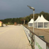 Spray guns used to irrigate the outdoor sand arenas and paddocks of the Federal Equestrian Centre